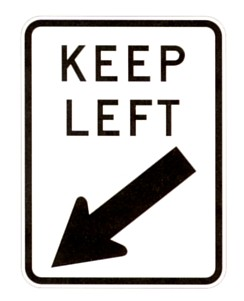 stay left